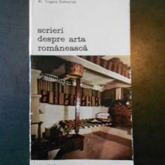 Al. Tzigara Samurcas - Scrieri despre arta romaneasca