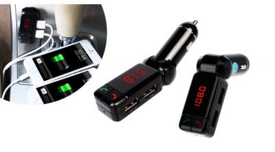 Modulator FM Cu Bluetooth, USB, AUX Mania Panda foto