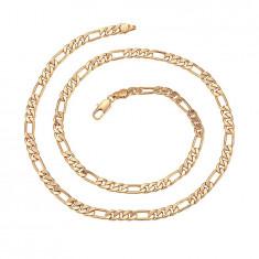 Lant Barbati dublu placat aur 18K,lungime 60cm,grosime 0,5cm