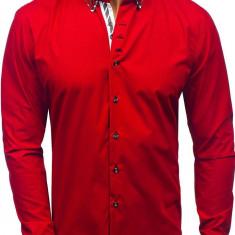 Cămașă cu mâneca lungă pentru bărbat roșie Bolf 3762