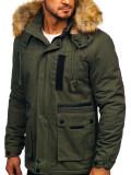 Geacă de iarnă kaki Bolf JK323
