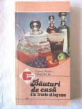 """BAUTURI DE CASA din fructe si legume"", Dorina si Mihai Martin,1986. Carte noua"