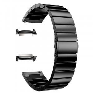 Curea metalica, adaptoare compatibile Samsung Gear Fit 2, Black