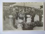 Cumpara ieftin Raritate! Foto cu generalii E.Hansen si I.Antonescu la Mor.Ostasului Necunoscut, Alb-Negru, Portrete, Romania 1900 - 1950