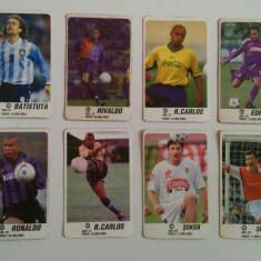 Lot 16 cartonașe fotbal - EURO 2000 - jucători de top (Boban, Rivaldo, Ronaldo)