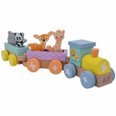 Set trenulet din lemn cu animale Studio Circus