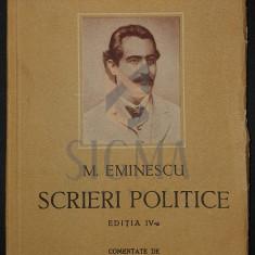 MIHAI EMINESCU ( comentat de D. Murarasu ) - SCRIERI POLITICE