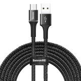 Cumpara ieftin Cablu de date/incarcare Baseus, Halo Durable Nylon Braided, Micro USB 3M 2 A, Negru