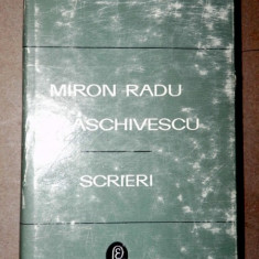 SCRIERI VOL 2(TRISTELE,TALMACIRI)-MIRON RADU PARASCHIVESCU 1969