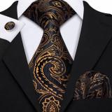 Set cravata + batista + butoni - matase naturala 100% - model 11