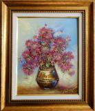 Tufanele de Toamna frumoasa, Flori, Ulei, Impresionism