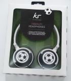 Căști noi KitSound Doodles cu volum limitat pentru protecția urechilor copiilor, Casti On Ear, Cu fir, Mufa 3,5mm