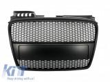 Grila Centrala compatibil cu AUDI A4 (B7) Facelift (2004-2008) RS4 All Black Design