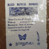 Bob Dylan, citat imprimat pe hârtie manuală, cu rama clipsuri (25/20 cm)