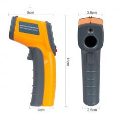 Termometru digital cu laser, portabil, Galben/Negru, Gonga