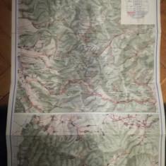 Hartă Munții Bihorului, Oficiul de Turism Carpati, filiala Turda