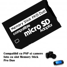 Adaptor card  micro SD / SDHC la Memory Stick MS Pro Duo pt PSP camera foto Sony