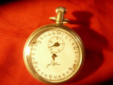 Ceas Cronometru Junghans pt piese de schimb ,d.cadran=4cm
