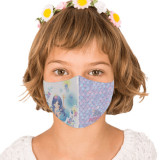 Cumpara ieftin Masca reutilizabila din textil pentru copii 6-9ani, Mermaid