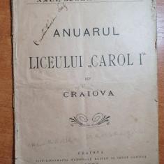 anuarul liceului carol 1 din craiova din anul 1897