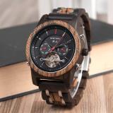 Cumpara ieftin Ceas din lemn Bobo Bird mecanic Q27-3