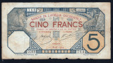 Africa Occidentala 5 Francs s768 2268 1924 P#5Bb