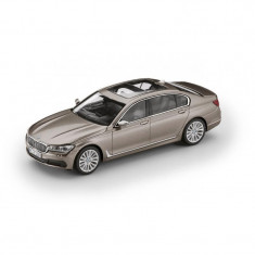 Macheta BMW Seria 7 Long 2017 Cashmere Silver 1:43