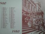 Reproducere 1980 promoția 1950 Institutul Politehnic Facultatea Constructii Iași