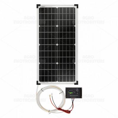 Panou solar monocristalin 30W cu regulator de încărcare foto