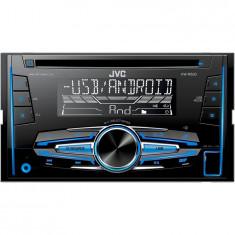 Radio CD auto JVC KW-R520, 4x50W, USB, AUX, subwoofer control, 2DIN, iluminare alb