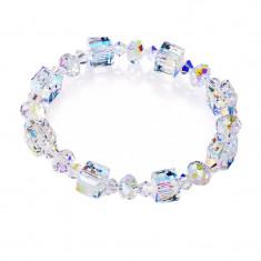 Bratara din cristale Swarovski® Crystals, ajustabila , cutie catifea albastra