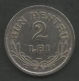 ROMANIA  FERDINAND I   2  LEI  1924   [1]  POISSY ,   livrare in cartonas, Cupru-Nichel