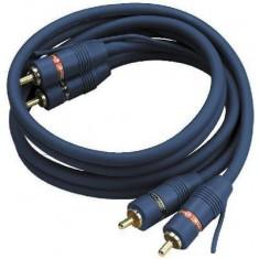 Cablu 2 RCA tata la 2 RCA tata Stage Line AC-080/BL