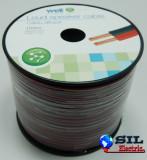 Cablu difuzor rosu/negru 2X2.00mmp, 100m, Well