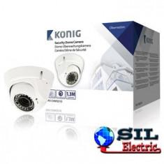 Camera de securitate tip Dome cu lentile varifocale, alba, Konig
