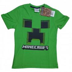 Tricou Minecraft ORIGINAL Creeper LOGO 5-12 ani + Bratara CADOU !!