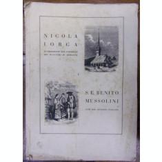 NICOLAE IORGA A S.E. BENITO MUSSOLINI (1936)