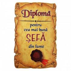Magnet Diploma pentru Cea mai buna SEFA din lume, lemn