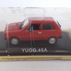macheta yugo 45a + revista masini de legenda nr.69 - 1/43, noua.