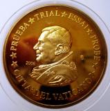 5.373 VATICAN PAPA BENEDICT XVI MODEL EURO 50 CENTS SPECIMEN PRUEBA