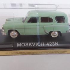 macheta moskvitch 423n + revista masini de legenda nr.48 - 1/43, noua.
