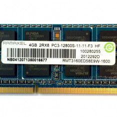 Memorii Ram laptop Ramaxel 4GB PC3-12800 DDR3-1600 1.5V RMT3160ED58E9W