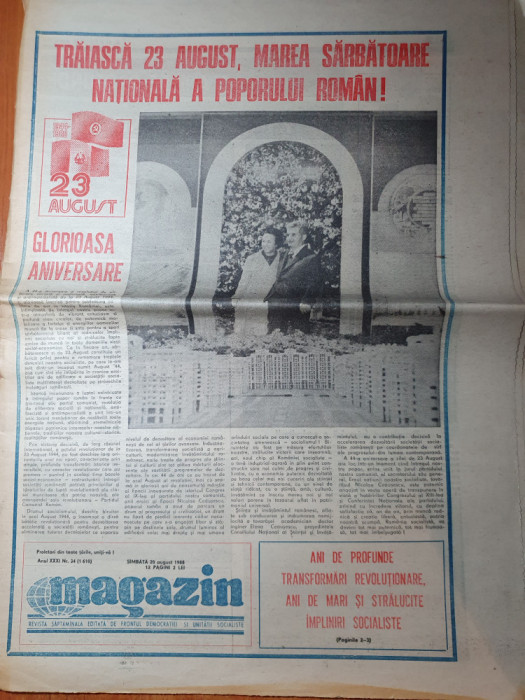 magazin 20 august 1988-traiasca 23 august