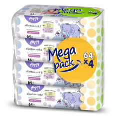 Happy Servetele umede Vit E mega pack 64 x 4