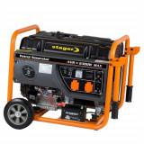 Stager GG 7300EW generator open-frame 5.8kW, monofazat, benzina, pornire electrica