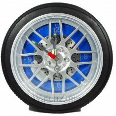 Ceas de perete anvelopa WHEEL CLOCK Blue / Red / Black WZ1539