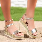 Sandale dama cu platforma aurii Avenas