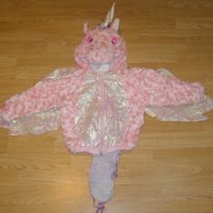 costum carnaval serbare animal unicorn ponei pentru copii de 6-7 ani