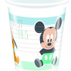Pahare Mickey Mouse Infant din plastic 200ml set 8 buc