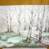 Semne de primavara-pictura ulei pe panza;Macedon Luiza, Natura, Altul